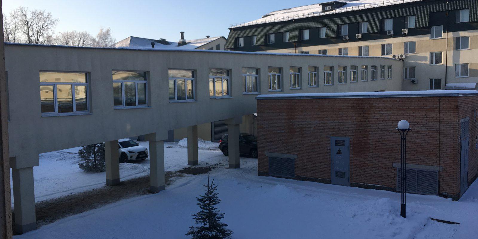 Обследование конструкции кровли перехода здания лечебного корпуса